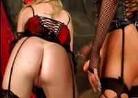 2 lesbians in BDSM action